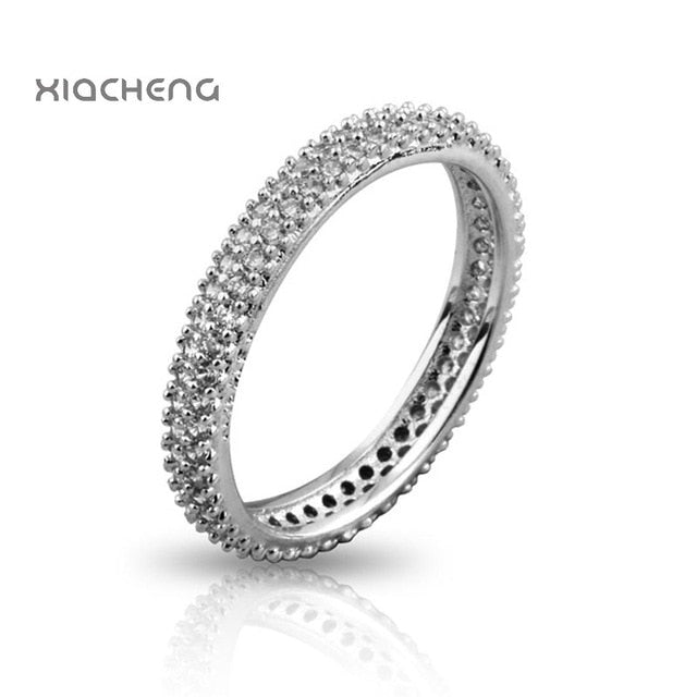 9 Style Women 925 Sterling Silver Rings Jewelry Wing Flower Crown Double Circles Style Ring For Women Jewelry 1Pcs