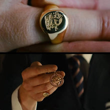 Load image into Gallery viewer, Kingsman Ring The Secret Service Custom Signet Rings For Men Women Cosplay 925  Silver Color Brass Gold Color Free Engrave Cool