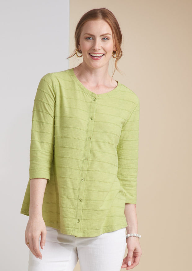 HABITAT TUCK PLEAT TOP WITH BUTTONS 16436 - Atlas Apparel Co.