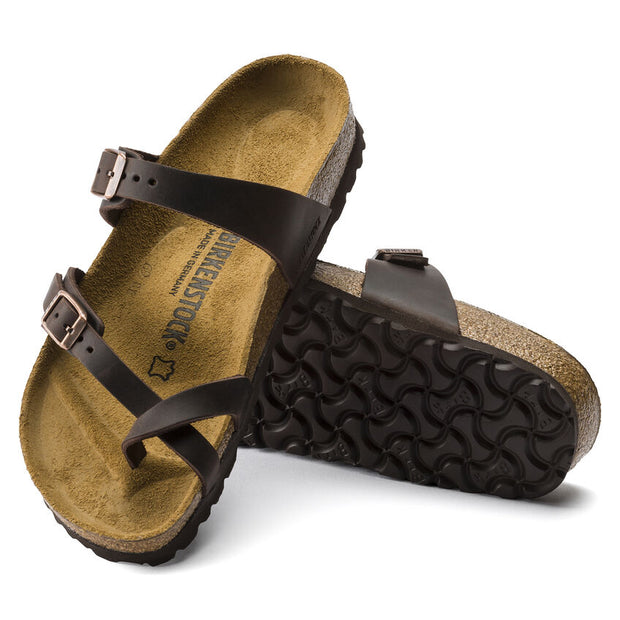 BIRKENSTOCK MAYARI HABANA OILED LEATHER - Atlas Apparel Co.