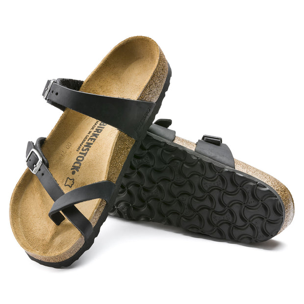 BIRKENSTOCK MAYARI BLACK OILED LEATHER - Atlas Apparel Co.