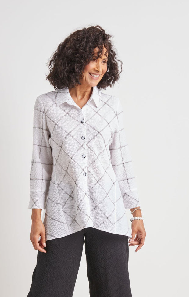 HABITAT CLOTHING  ART TUNIC BLK/WHITE 22345