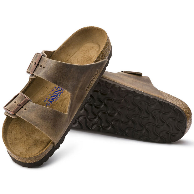 BIRKENSTOCK ARIZONA TABACCO BROWN LEATHER  SOFT FOOT BED - Atlas Apparel Co.