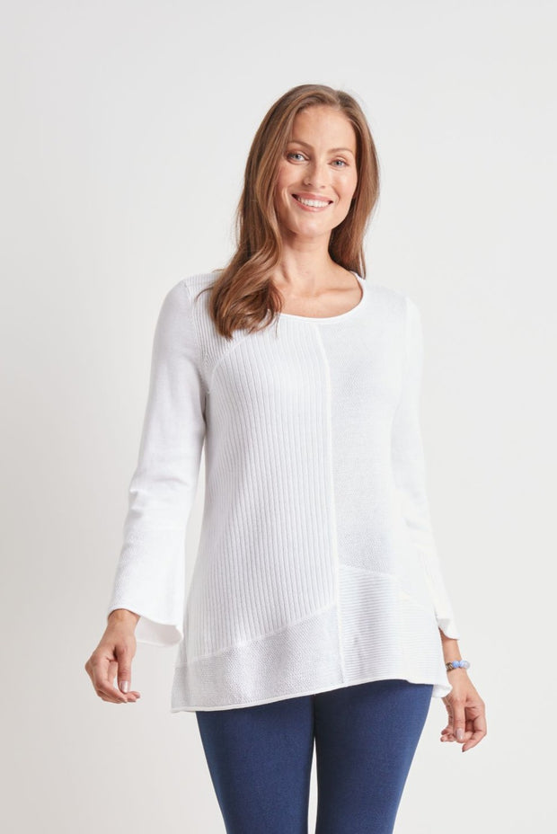 HABITAT CLOTHING PULL OVER SWING SWEATER WHITE 83135