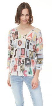 CHARLIE B TALK ABOUT LETTERS OMBRE SWEATER C2219R