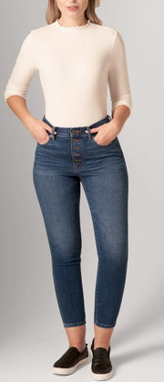 JAG VALENTINA SKINNY BUTTON FLY IN TRIBECA BLUE J2819601