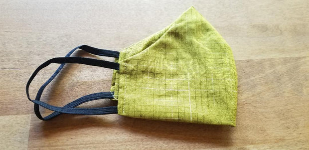 MASK COTTON POPLIN WITH POCKET FOR FILTER BRIGHT YELLOW GREEN
