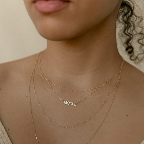 Custom Initial Nameplate Necklace