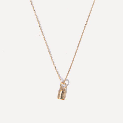 Baby Lock Charm Necklace