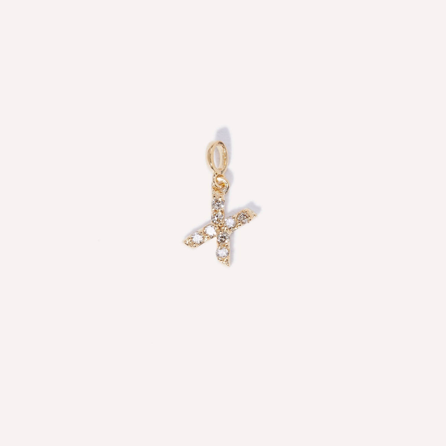 Baby Diamond Initial Charm Necklace