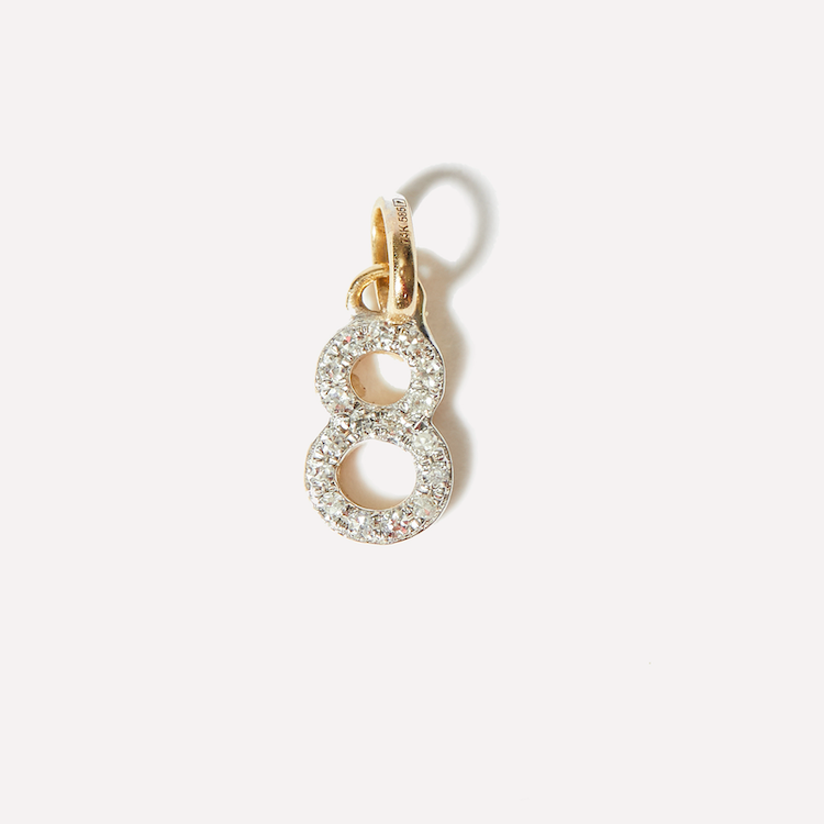 Diamond Number Charm