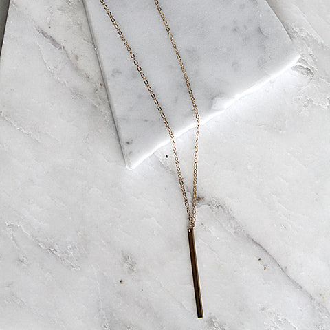 Initial Bar Drop necklace