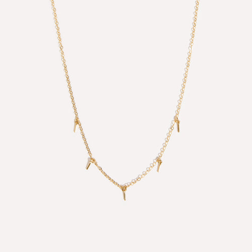 5 Bar Drop Dainty Necklace