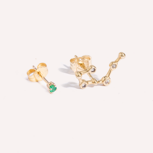 Constellation Birthstone Earrings