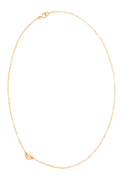 Sideways Initial Disc Necklace - Amarilo - 3