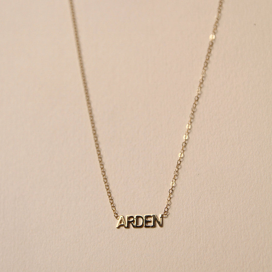 Bridesmaids Giftset Custom Initial Nameplate Necklaces