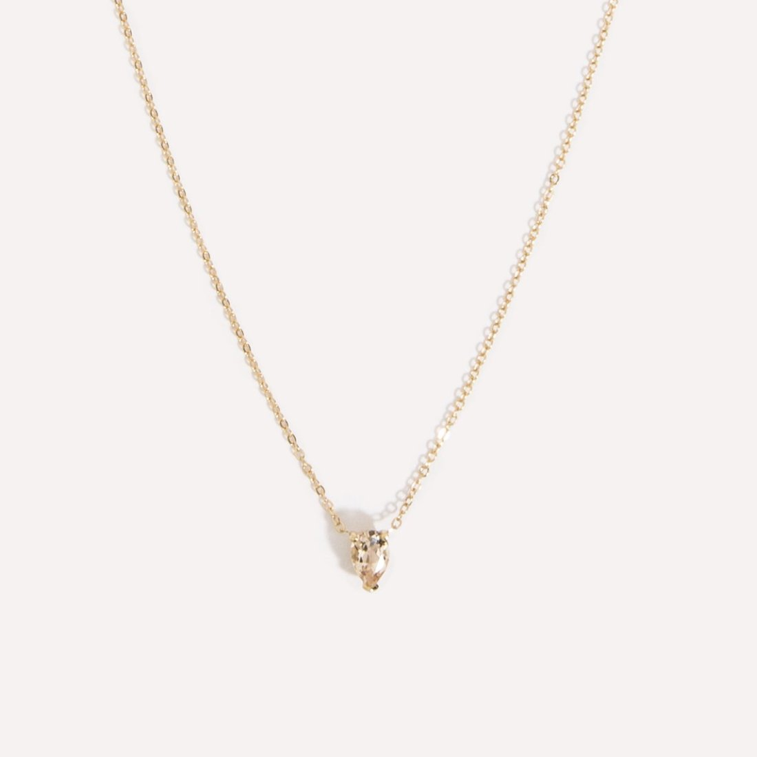 Teardrop Morganite Necklace