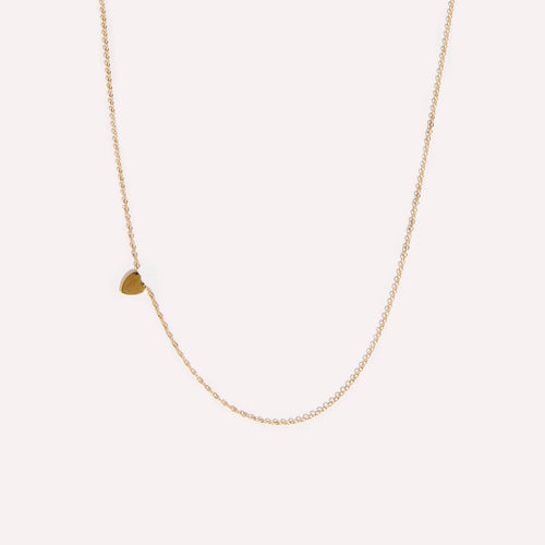Sideways Initial Heart Necklace