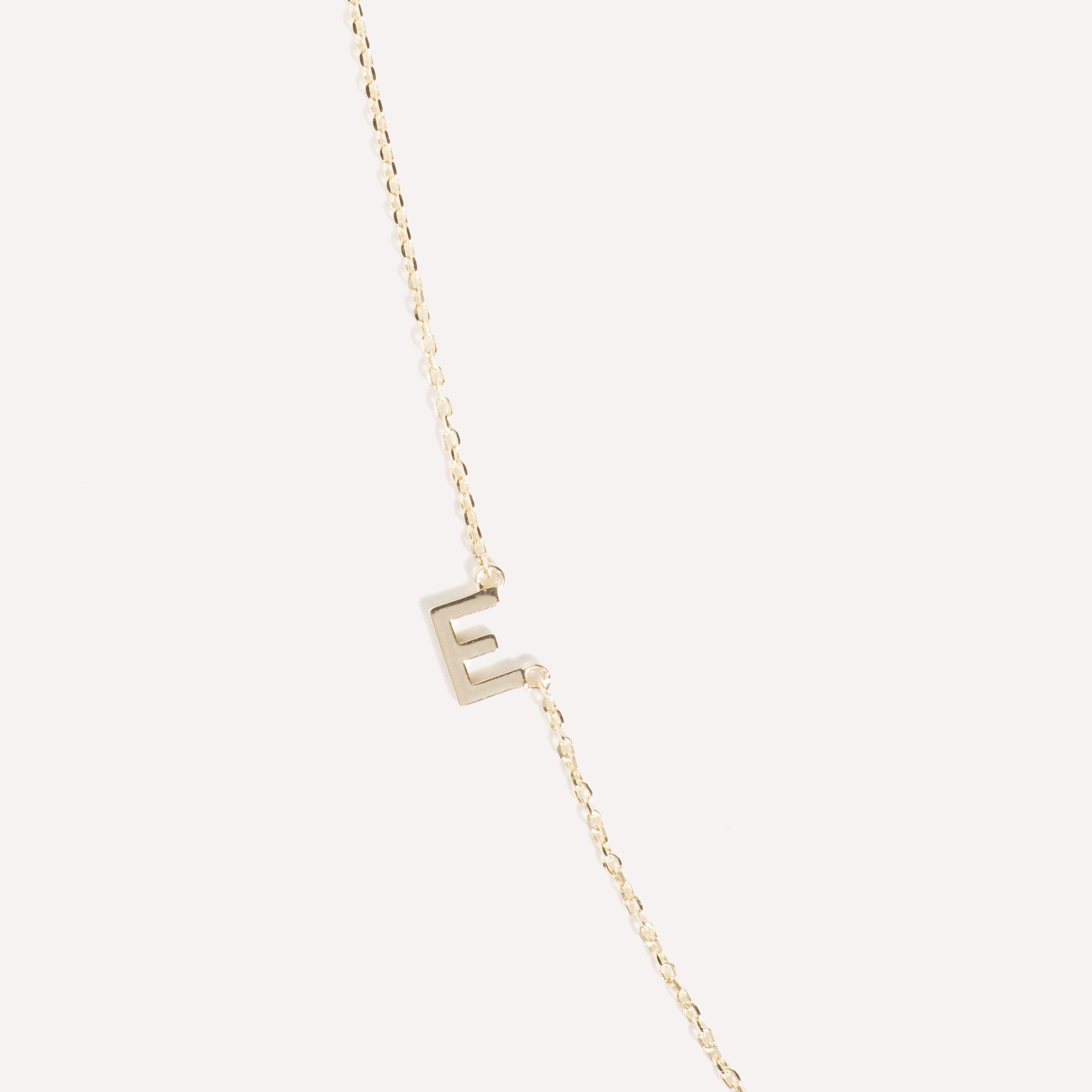 Sideways Triple Initial Necklace