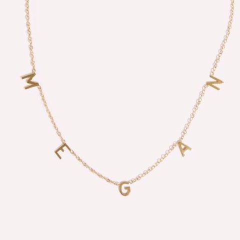 Custom Diamond Name Drop Necklace