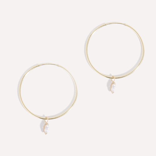 Seamless Marquise Hoops