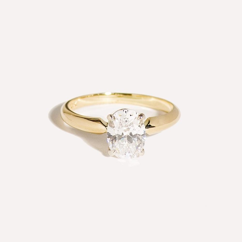 Classic Oval Solitaire Ring
