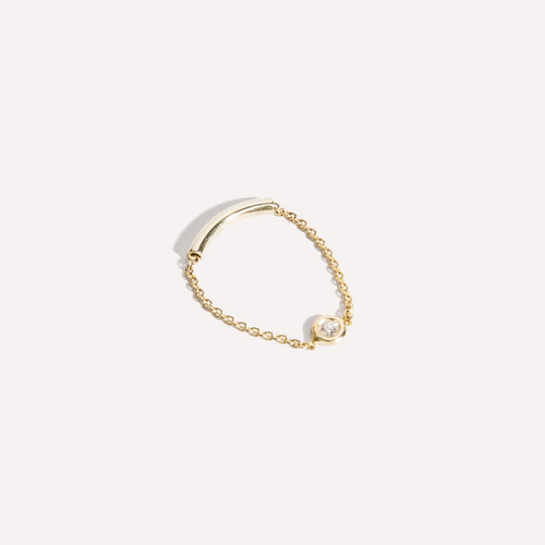 Solana Diamond Chain Ring
