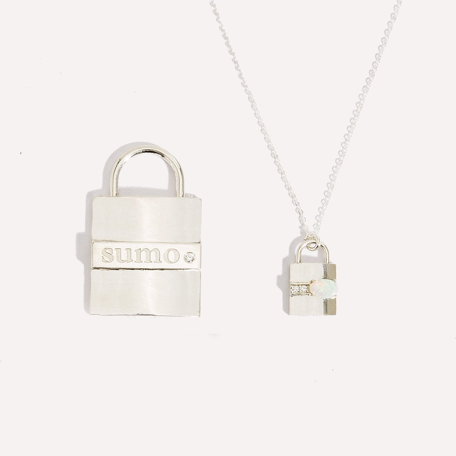 Dog Tag Lock Pendant