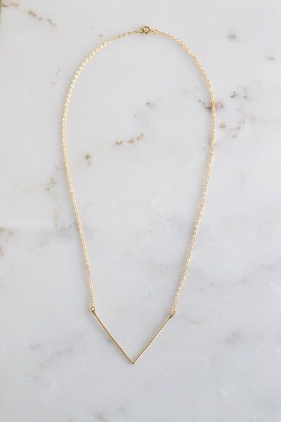 V Necklace - Amarilo - 2