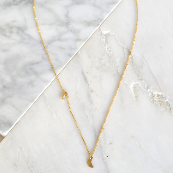 To the Moon Necklace - Amarilo