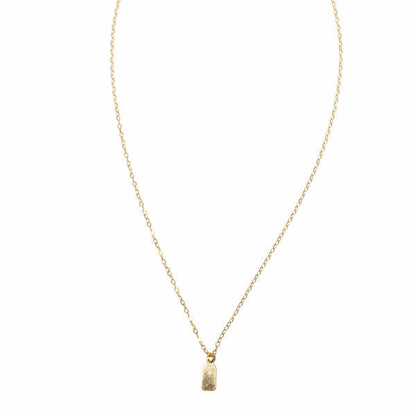 Initial Tag Necklace - Amarilo - 1