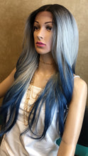 Load image into Gallery viewer, #17 DR/ Grey & Blue Lace Front