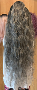 #27 Long DR/Silver-Grey Wavy Lace Front