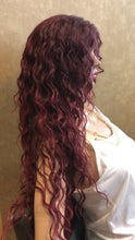 Load image into Gallery viewer, #23 Wavy Burgundy Wine Lace Front