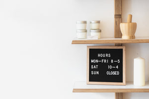 Small Business Store Hours Courtesy of Burst