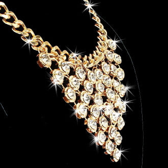 110ct Hollywood Drape Link Necklace (gold)