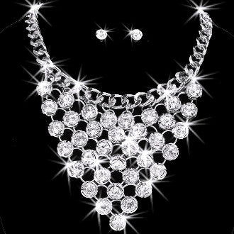 110ct Hollywood Drape Link Necklace (silver)