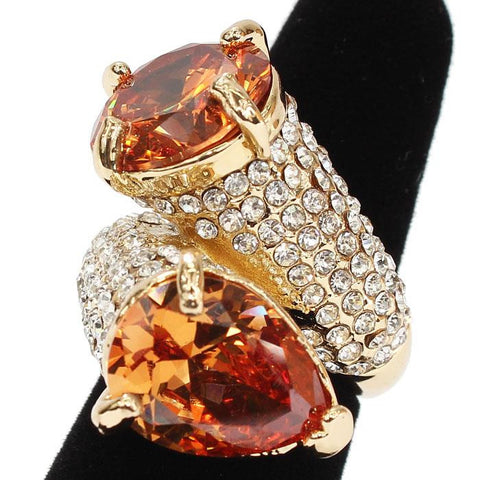 Bypass Amber Cocktail Ring