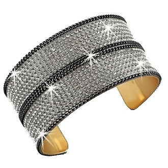 10 Line Crystal w/ diamond cut Link Chain Cuff