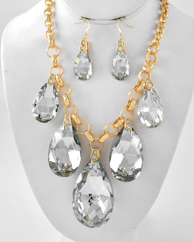 The Sit Down Crystal Necklace