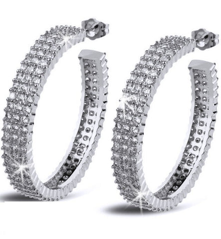 The Perfect 3 Row Signity CZ Hoop