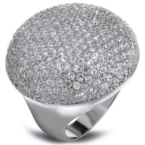Flat Round Dome Cocktail Ring