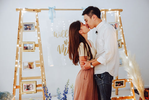 Romantic Outdoor Proposal in Singapore at Haus of Feel's Indoor Studio by Style It Simply