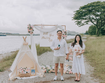 Romantic Outdoor Proposal in Singapore at Marina South Promenade by Style It Simply