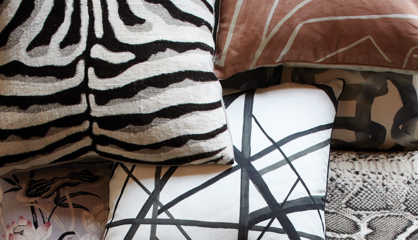 Image of various patterned pillows