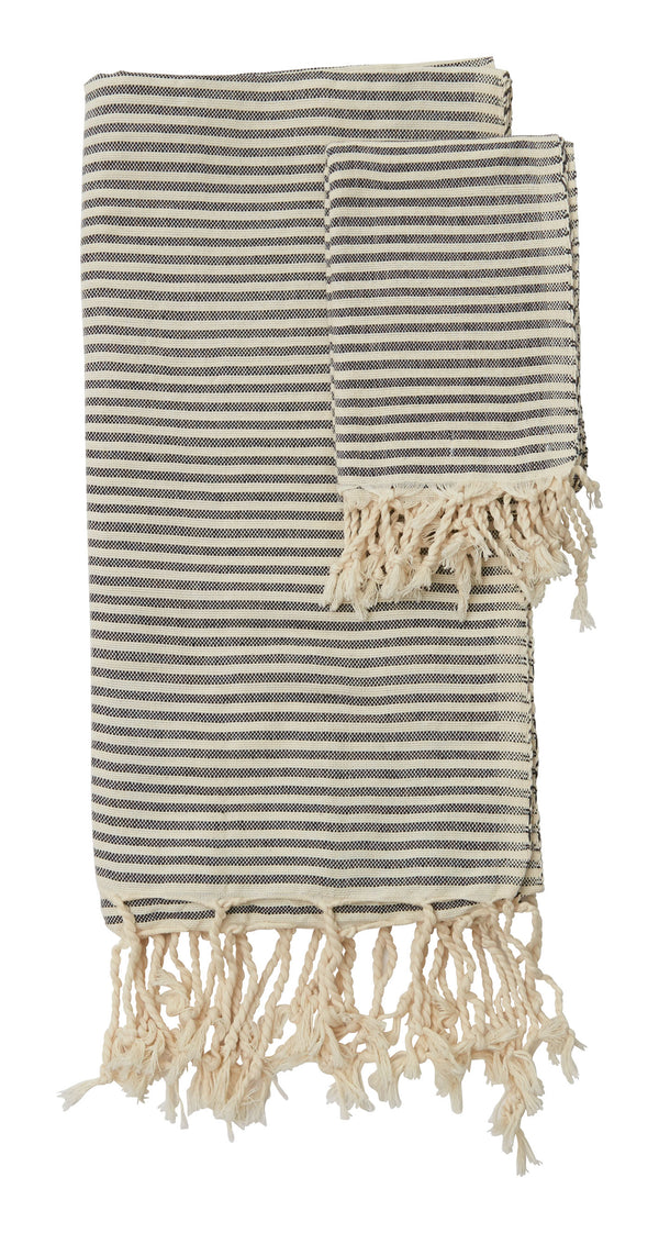 Hammam Thin Black Stripe Towel