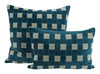 Grid Pillows - Blue