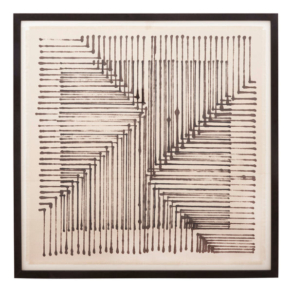 Intersect Framed Textile