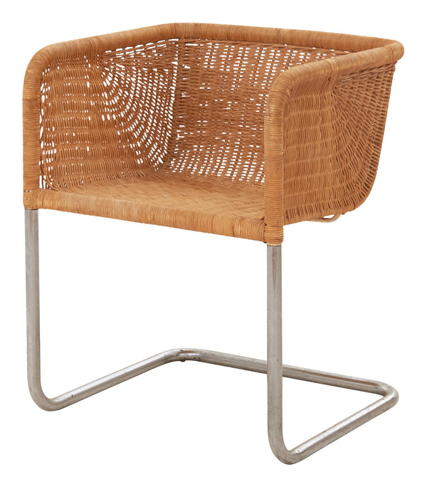 Vintage Wicker Cantilever Chair