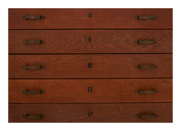 Vintage Double Sided Flat File Cabinet